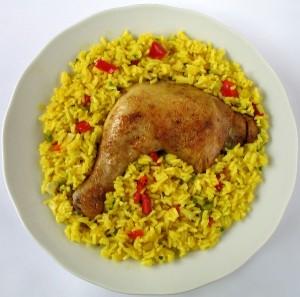 Traditional Costa Rican Food - arroz con pollo