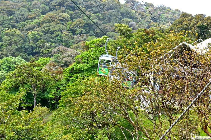 sky tram in monteverde, costa rica