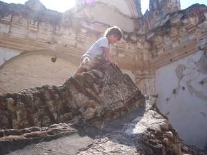family-travel-antigua-guatemala-climbing