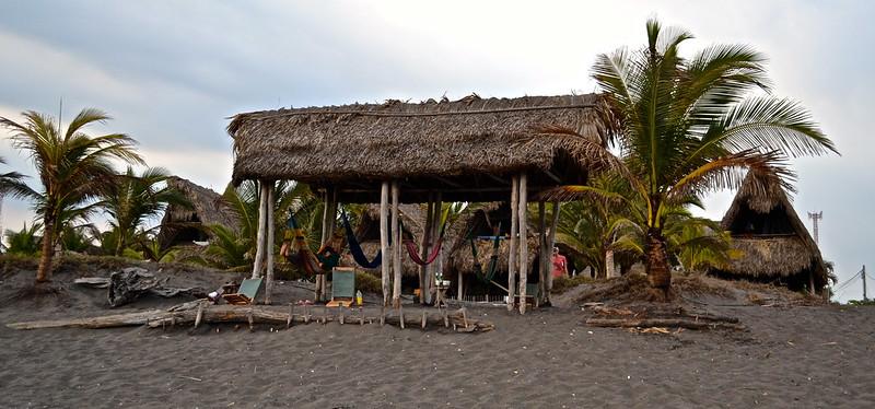 black sand beach in Monterrico, Guatemala