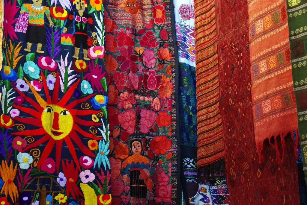 curtains found in the chichicastenango market in guatemala