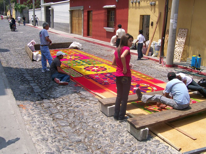 Capet made during the Holy Week in Guatemala