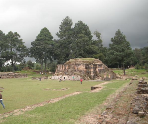 iximche mayan ruins in the Western Highlands of Guatemala
