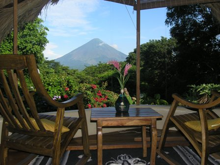 amazing view from eco lodge in nicaragua
