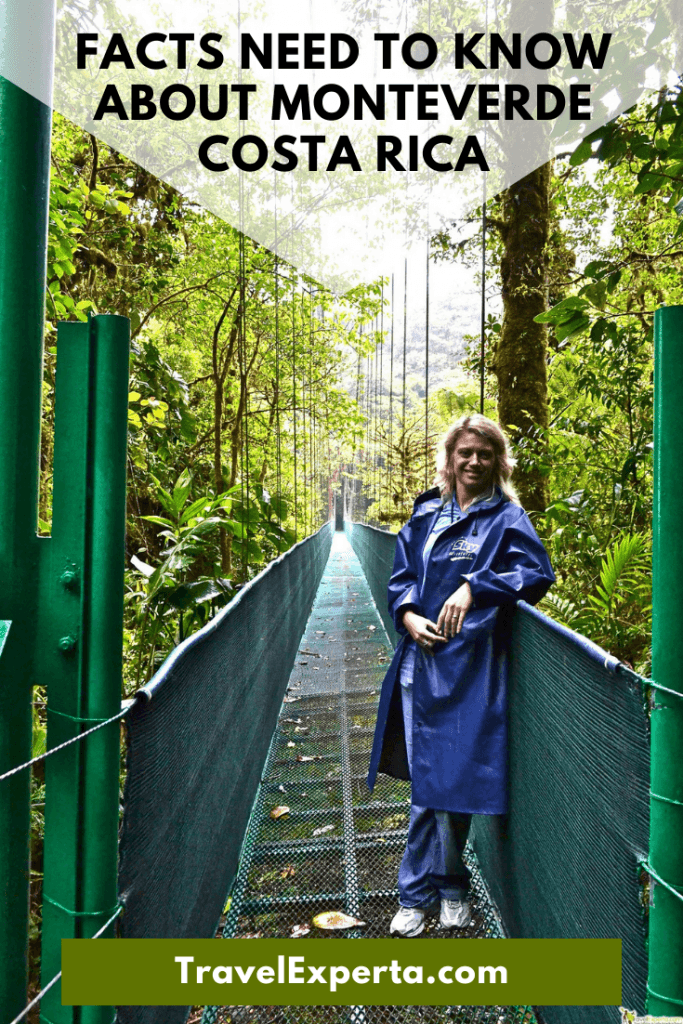 facts about monteverde cloud forest costa rica pin