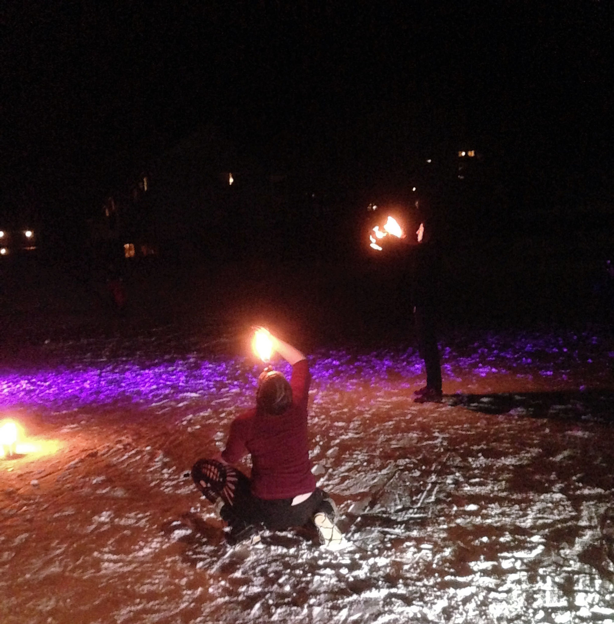 smuggs winter solstice party - fire eater