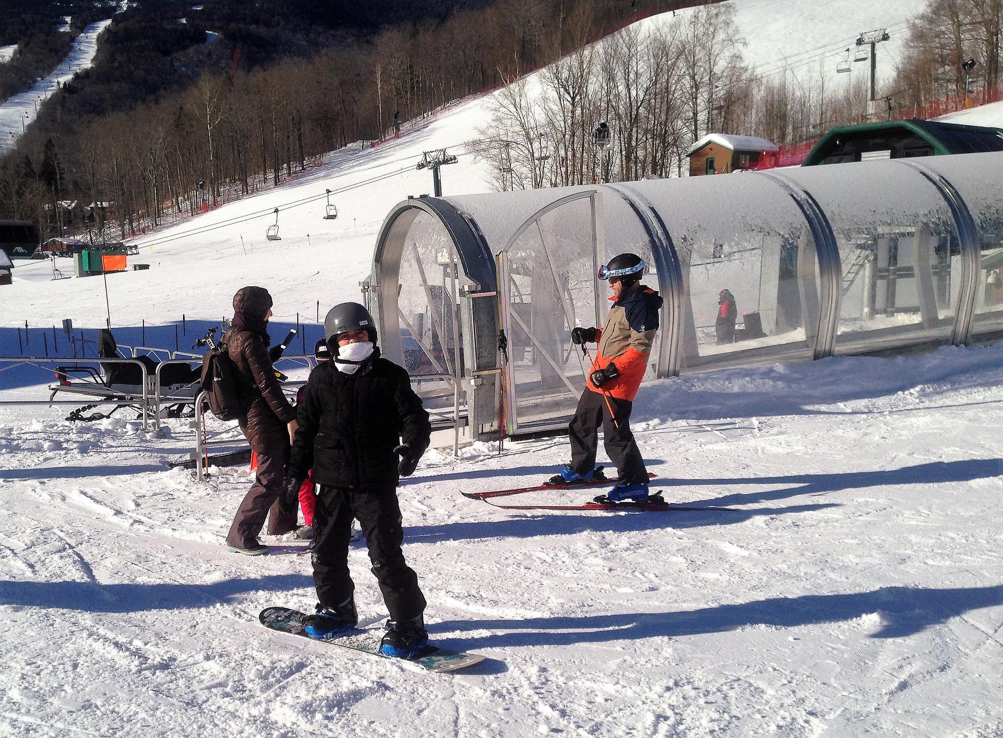 beginner ski lift - stowe mountain resort