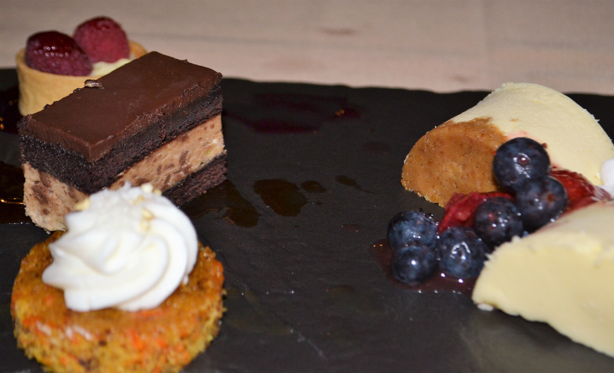 indulgent dessert, pastries, award winning, packards steakhouse
