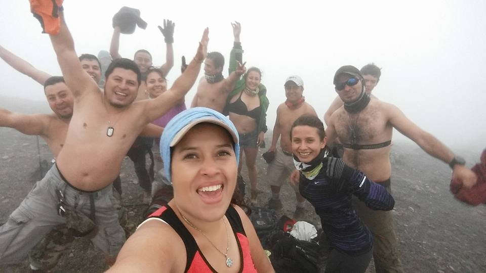 hiking friends in guatemala