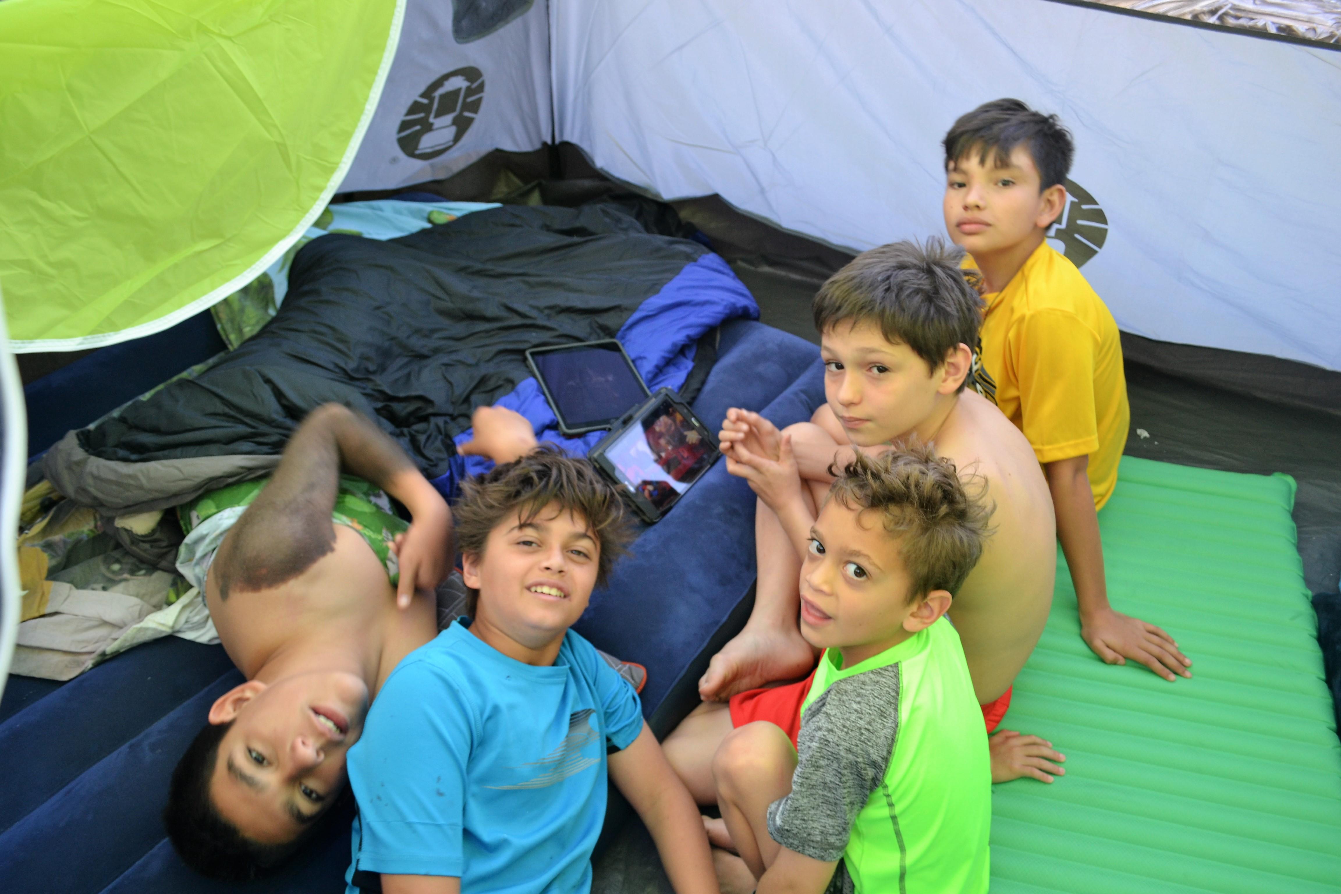 camping birthday party at the beach - guatemala