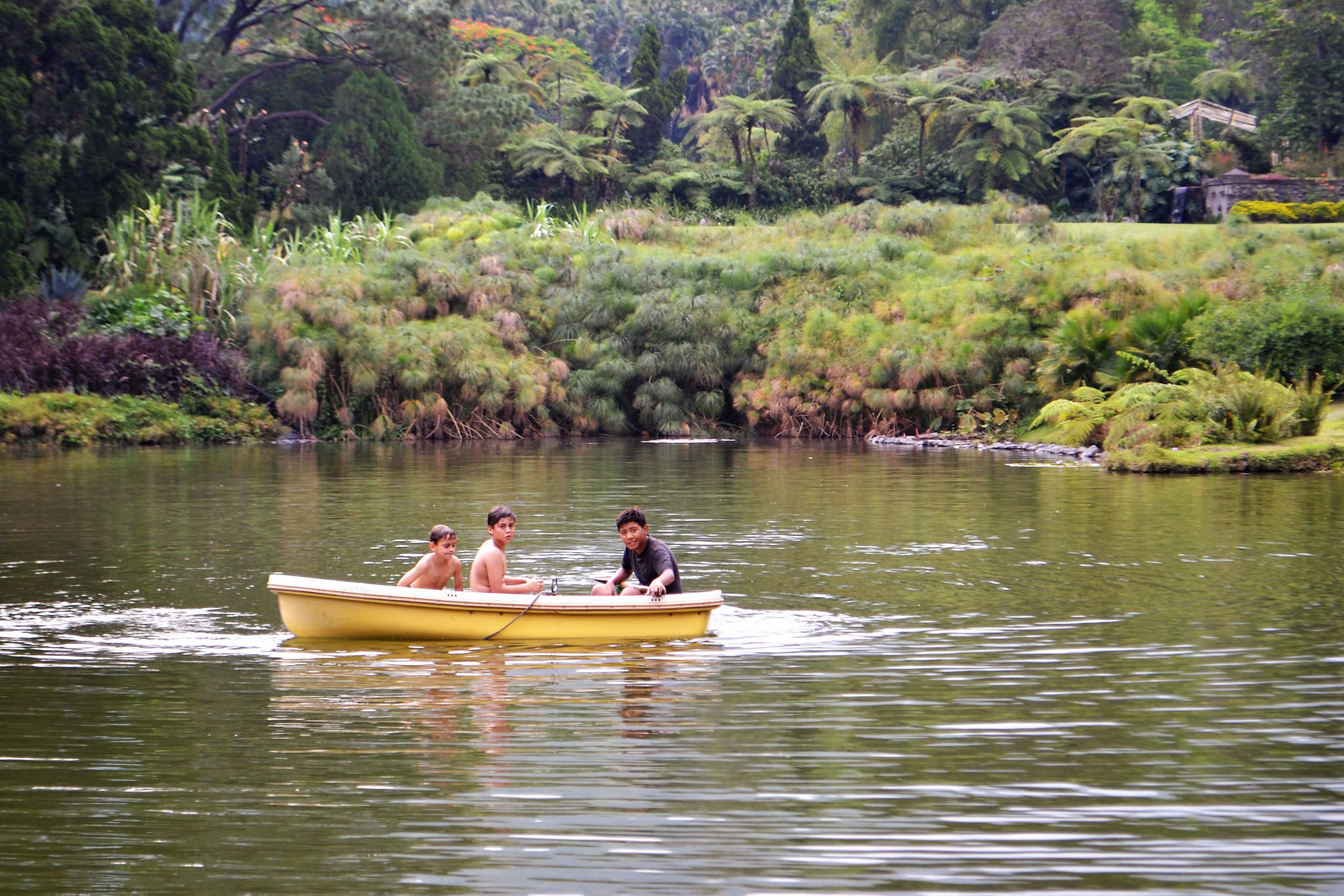 boys fishing in guatemala, finca zapote