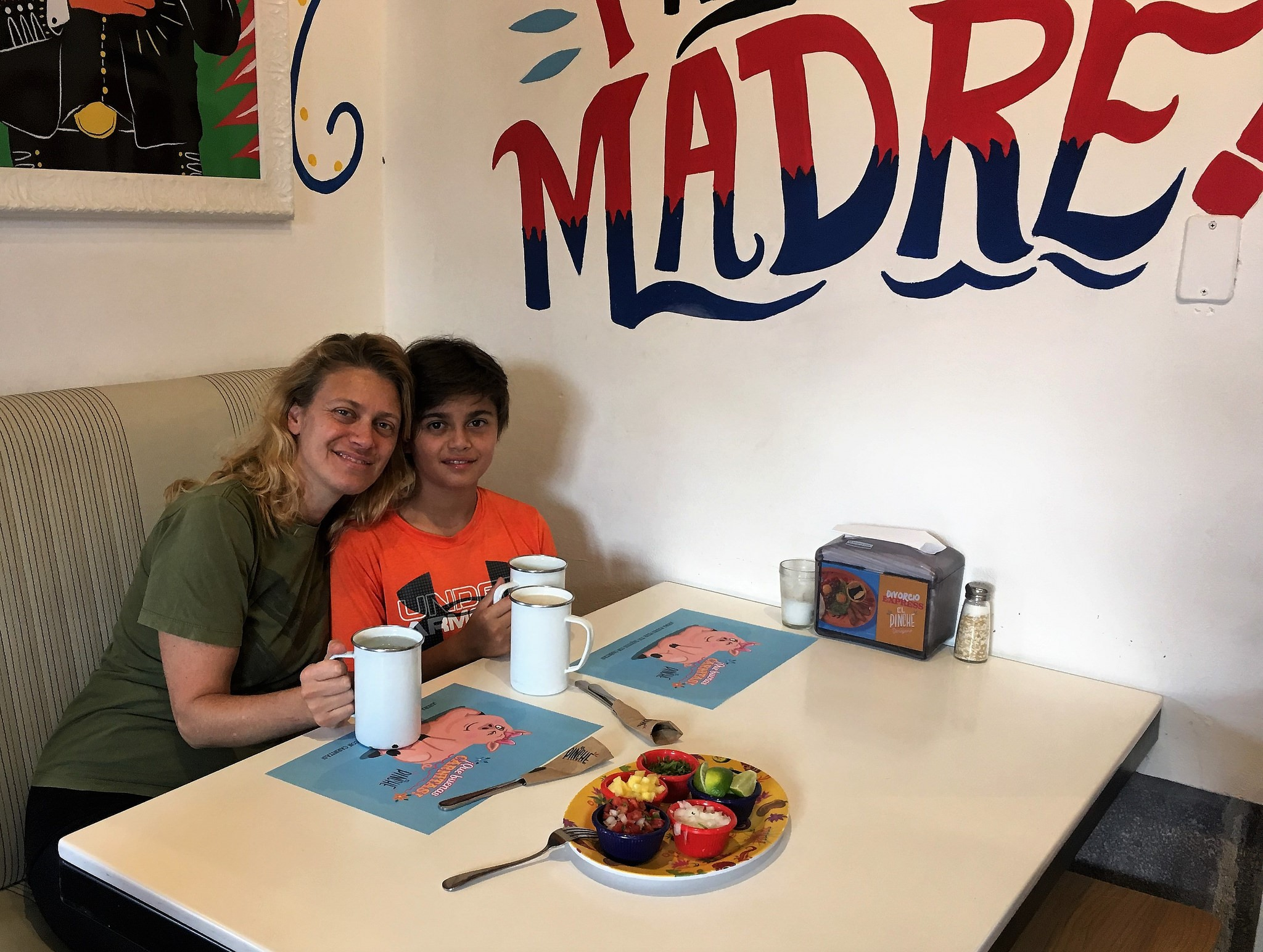 mexican food - mama and son quality time - mother son relationship