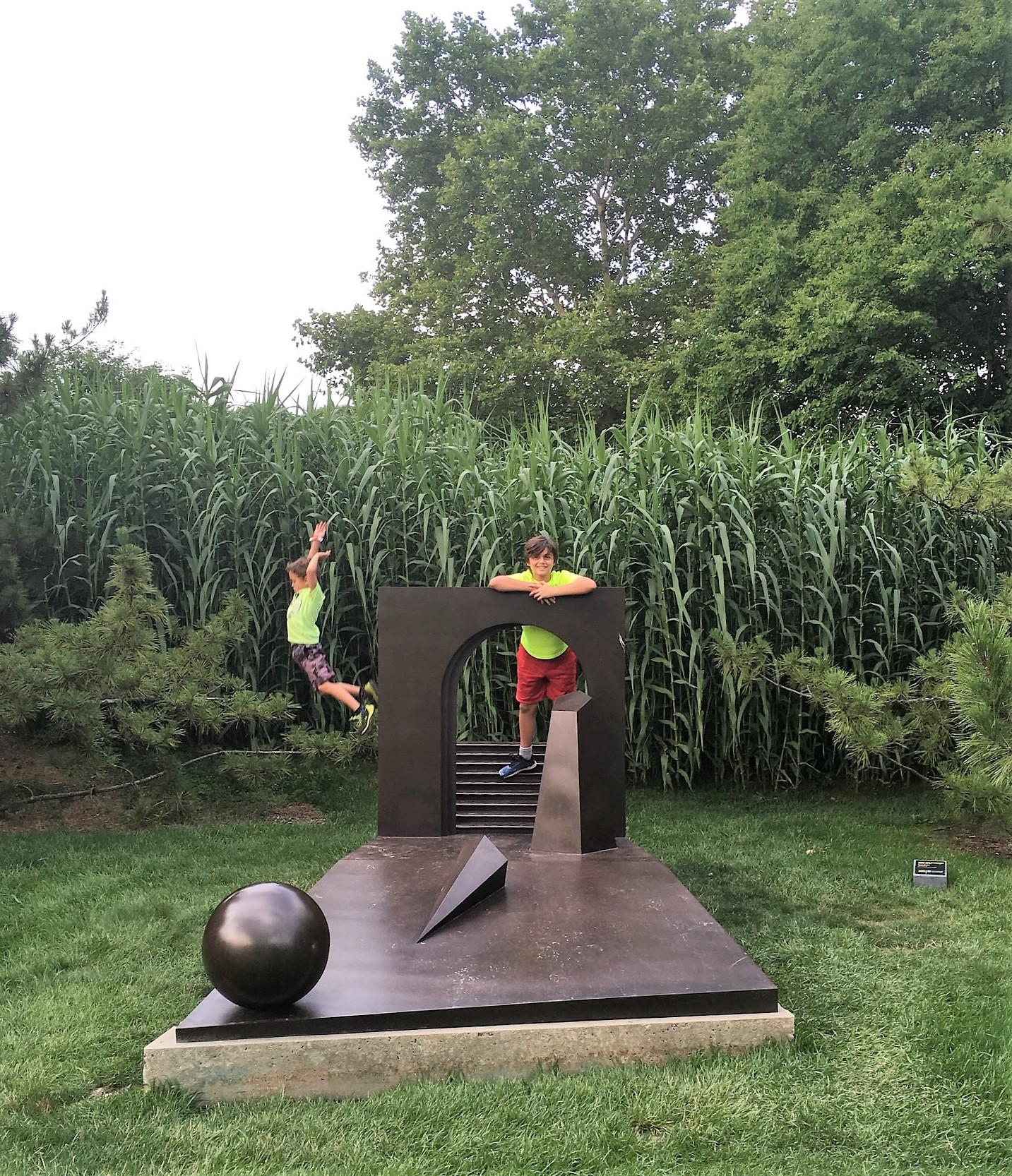 kids fun at Sculpture Garden - garden of sculptures