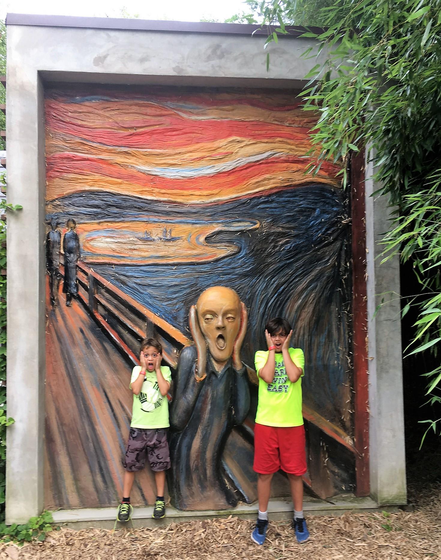art appreciation for kids - Sculpture Garden - garden of sculptures