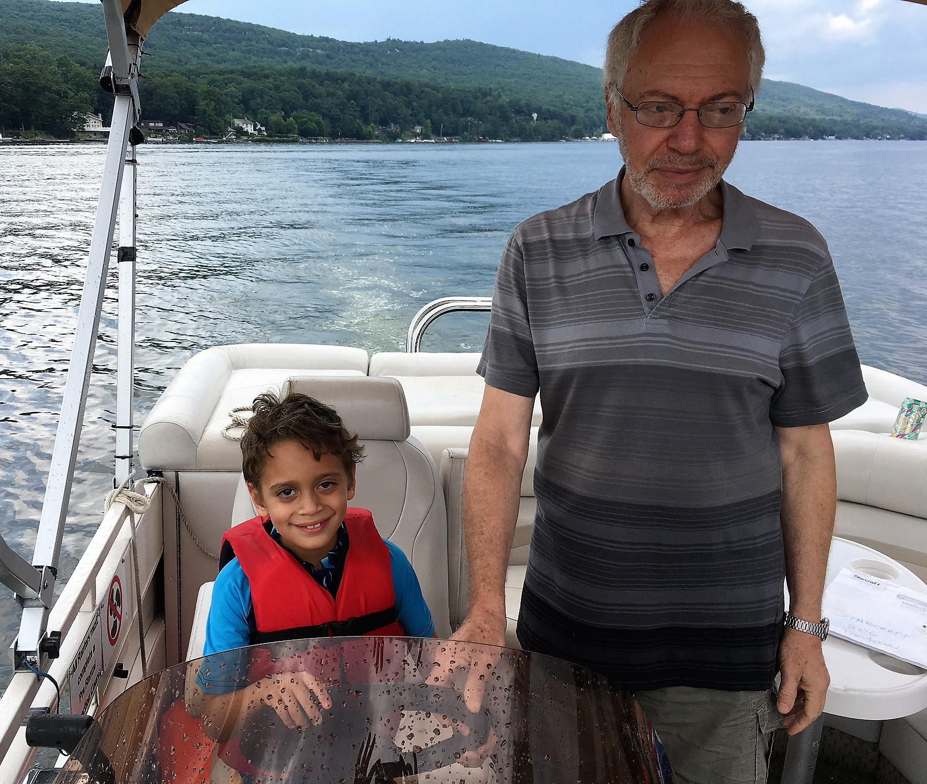 Family Reunion on Greenwood Lake - co-captain with grandpa