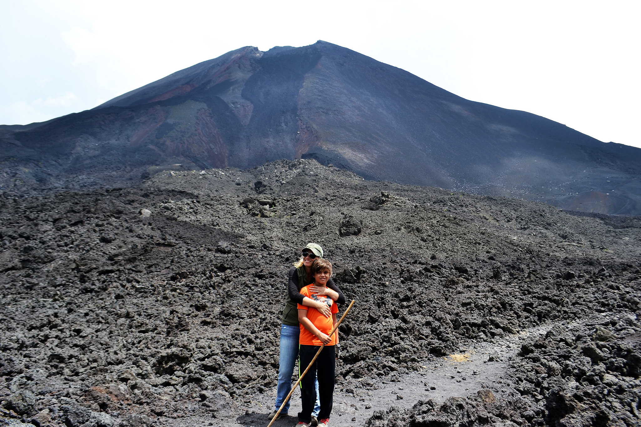 pacaya volcano, volcano hike, hiking with kids, travel with kids, family travel, Guatemala