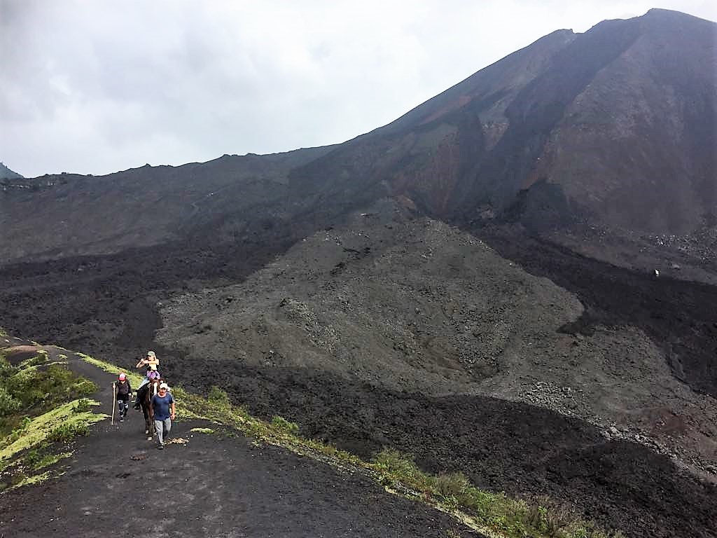 pacaya volcano, volcano hike, hiking with kids