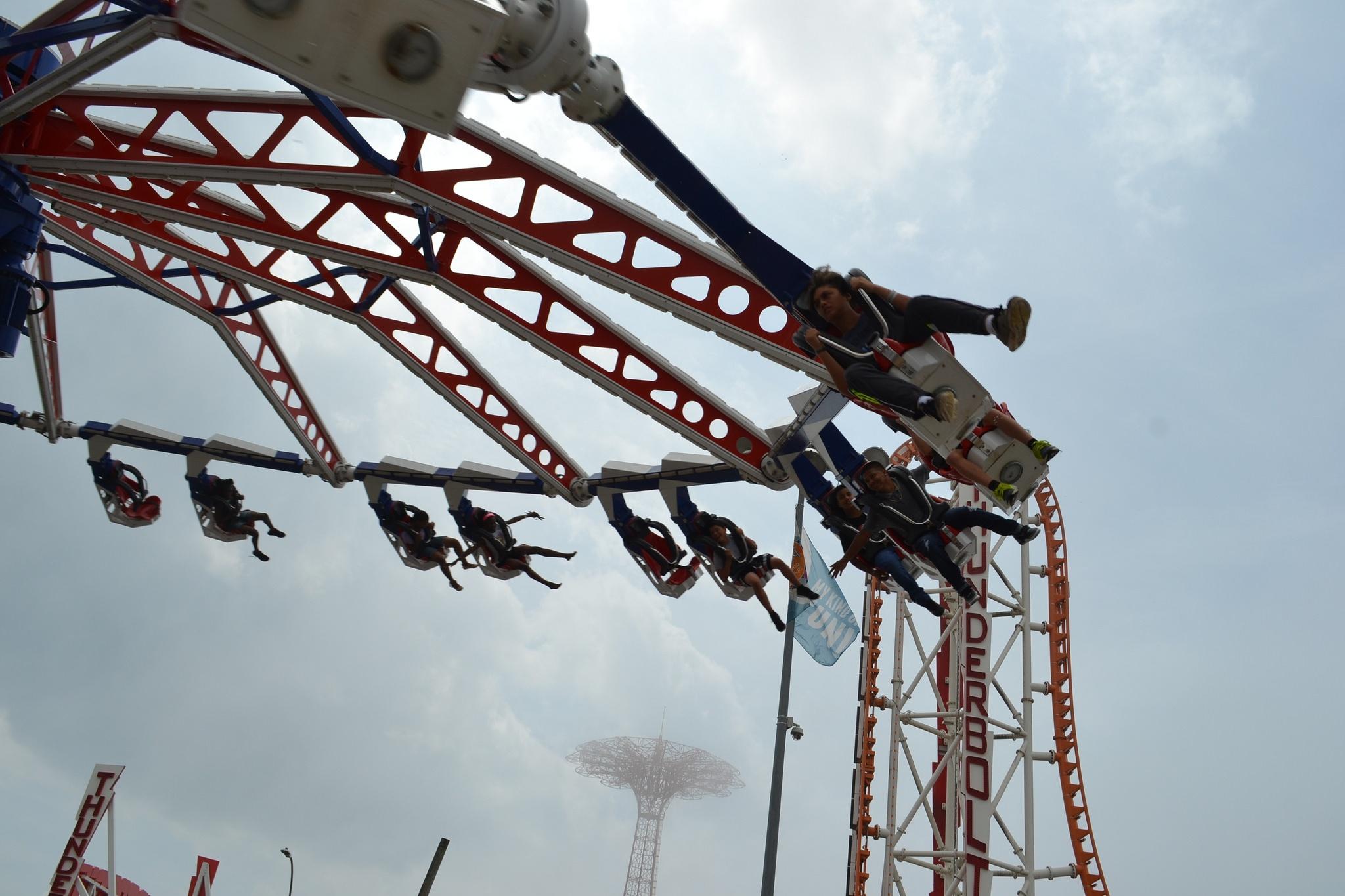 attraction at a luna park, coney island