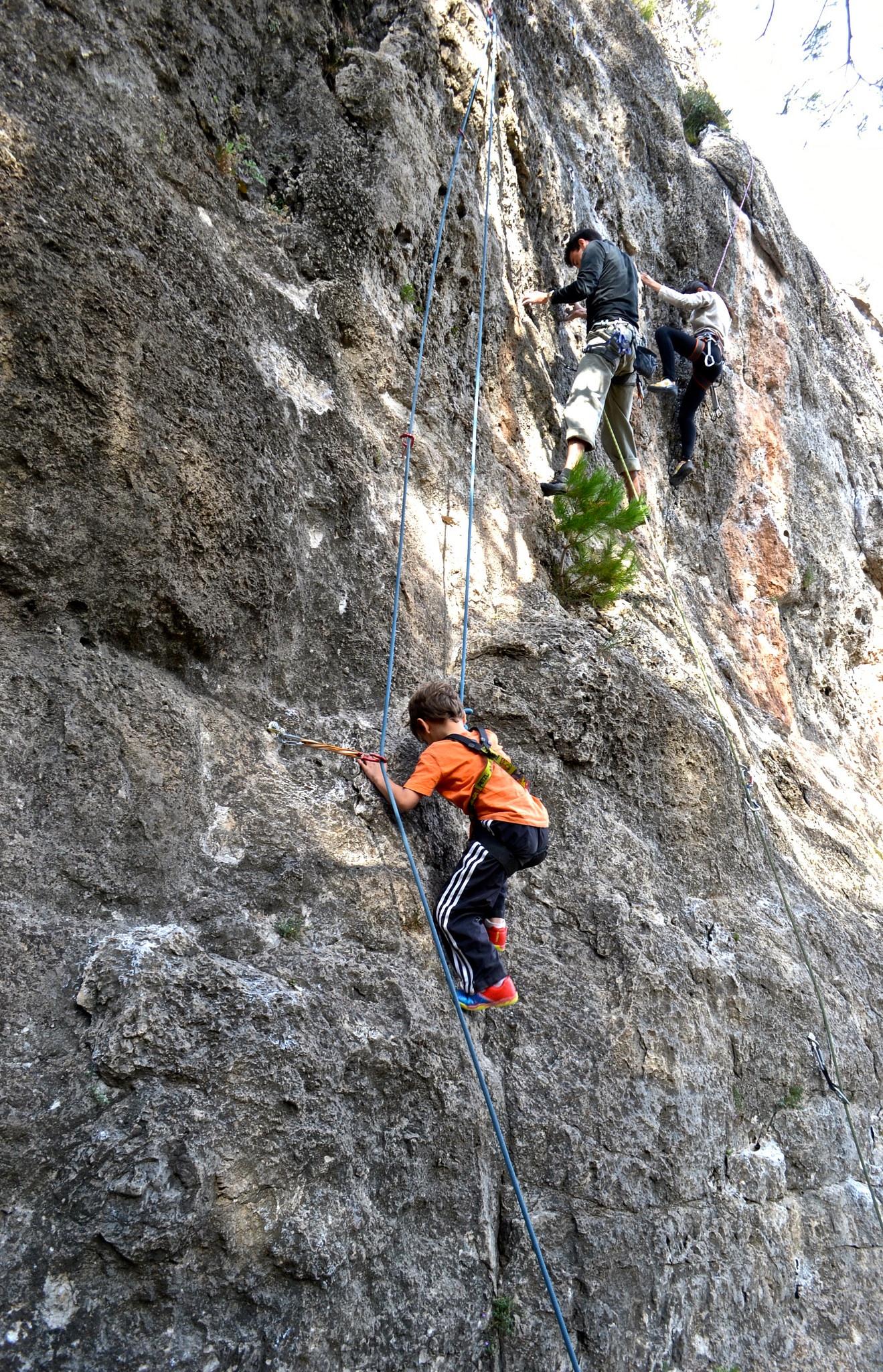 Climbing Siurana Spain