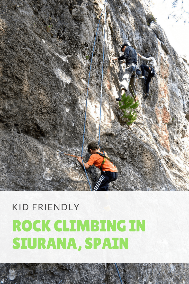 kid-friendly ROCK CLIMBING IN SIURANA, SPAIN