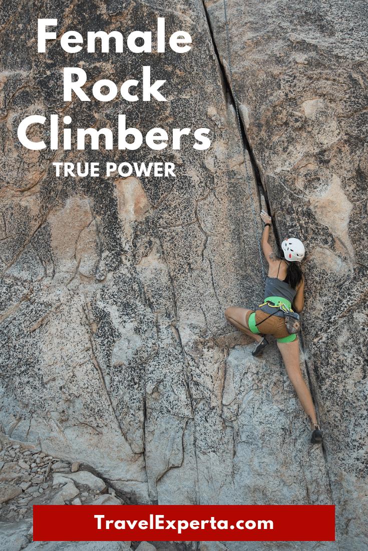 Female Rock Climbers True Power