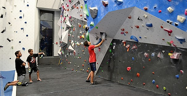 Rock Climbing Indoor Gym with Kids