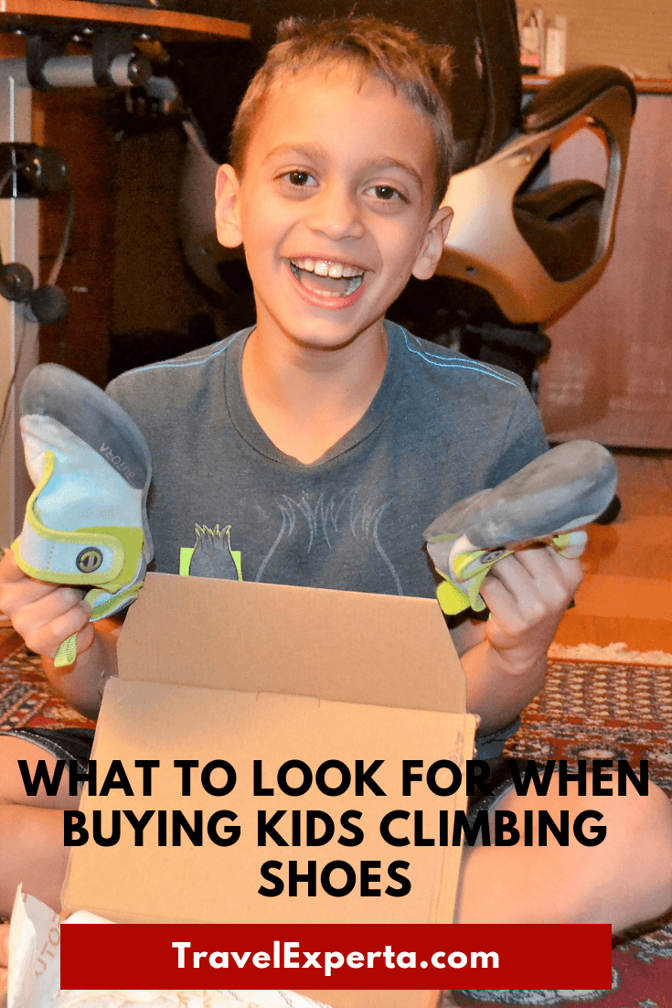 What to look for when shopping for kids climbing shoes