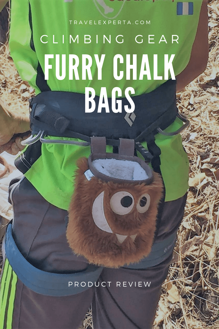Cute and Furry Climbing Chalk Bags by Crafty Climbing Review