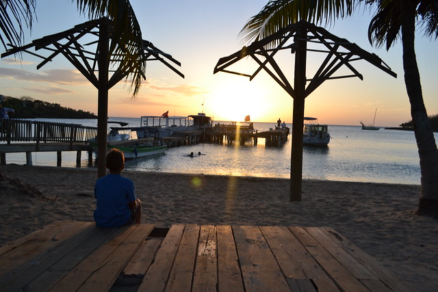 Honduras Travel Roatan sunset