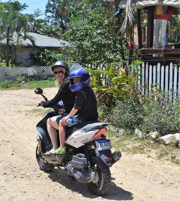 honnduras travel - exploring roatan on motorcycle