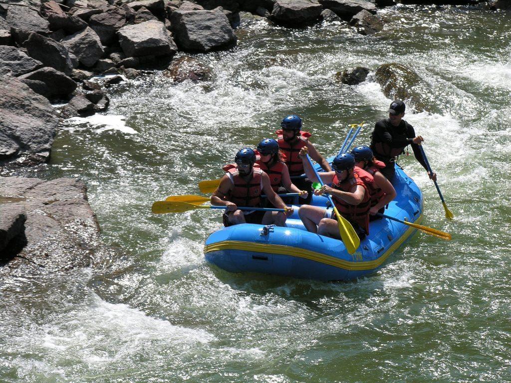 White river rafting in colorado.