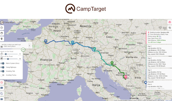 CampTarget – Intelligent Travel Planner