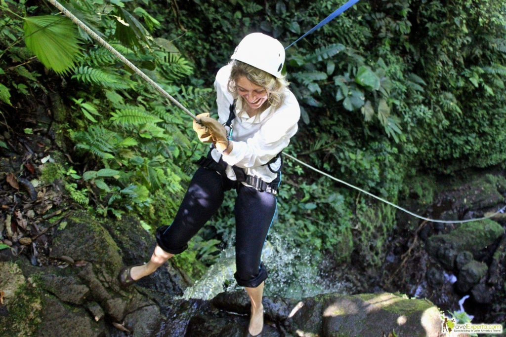 Waterfall Rappelling at Costa Rica